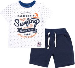 Костюм (футболка + шорты) Бемби КС617 122 см Белый с синим (06617012242.181) от Rozetka