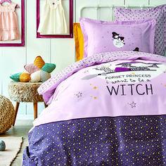 Подростковое постельное белье Karaca ранфорс Wich bordo Подростковый комплект от Podushka