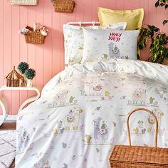 Подростковое постельное белье Karaca ранфорс Jolly pudra 2020-2 пудра Полуторный комплект от Podushka