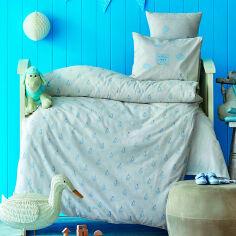 Постельное белье в кроватку Karaca Stork gri 2020-2 серый Детский комплект от Podushka