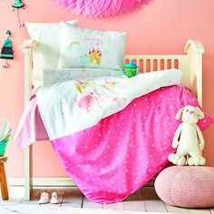 Постельное белье в кроватку Karaca Lovable pudra 2020-2 пудра Детский комплект от Podushka