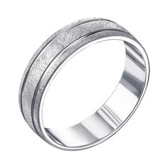 Серебряное обручальное кольцо 000119335 000119335 22.5 размера от Zlato