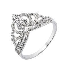 Серебряное кольцо-корона с фианитами 000132920 000132920 20 размера от Zlato