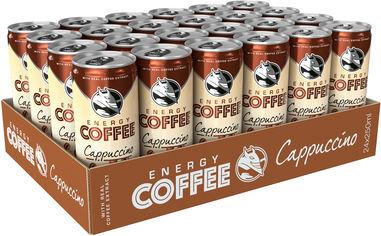 Упаковка энергетического напитка Hell Energy Coffee Cappuccino 0.25 л х 24 банки (5999860497097) от Rozetka