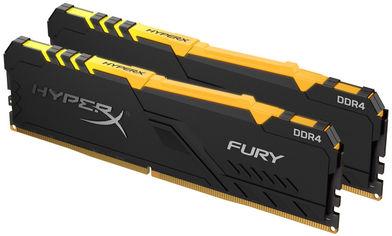 Акция на Оперативная память HyperX DDR4-3200 16384MB PC4-25600 (Kit of 2x8192) Fury RGB Black (HX432C16FB3AK2/16) от Rozetka