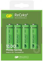 Аккумуляторы GP ReCyko AA NiMH 1.2V 130AAHCE-U4 1300 мАч 4 шт (4891199042911) от Rozetka
