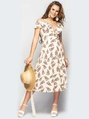 Платье Larionoff Flamingo 42 Бордовые листья (2000050007248) от Rozetka