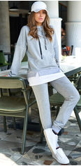 Спортивный костюM Jadone Fashion Mилитари S Серый (ROZ6400005355) от Rozetka