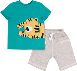 Костюм (футболка + шорты) Бемби КС611 80 см Бирюзовый с серым (06611012235.RX0) от Rozetka