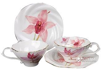 Чайный набор Lefard 264 Орхидея из 12 предметов (264-090) от Rozetka