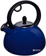 Акция на Чайник эмалированный Granchio Capriccio Blu Bollitore со свистком 2.5 л (88616) от Rozetka