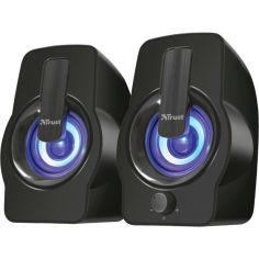 Акция на Колонки TRUST Gemi RGB 2.0 speaker set black (22948) от Foxtrot