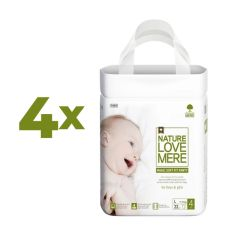 Набор подгузников-трусиков NatureLoveMere Magic Soft Fit L (7-11 кг), 88 шт. (4 уп. по 22 шт.) от Pampik
