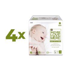 Набор подгузников NatureLoveMere Magic Soft Fit M (6-9 кг), 96 шт. (4 уп. по 24 шт.) от Pampik