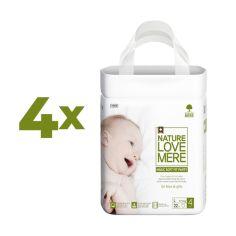 Набор подгузников NatureLoveMere Magic Soft Fit L (7-11 кг), 88 шт. (4 уп. по 22 шт.) от Pampik