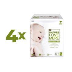 Набор подгузников NatureLoveMere Magic Soft Fit XL (11-14 кг), 80 шт. (4 уп. по 20 шт.) от Pampik