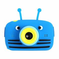Акция на Фотоаппарат детский XOKO KVR-100 Bee Dual Lens (KVR-100-BL) от Foxtrot