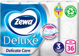 Туалетная бумага Zewa Deluxe трехслойная 36 рулонов (7322541299907) от Rozetka