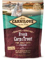 Сухой корм Carnilove Fresh для стерилизованных кошек с карпом и форелью 0.4 кг (8595602527427) от Rozetka