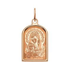 Ладанка из красного золота Богородица 000129233 000129233 от Zlato