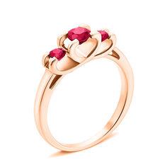 Кольцо из красного золота с рубинами 000131168 000131168 16 размера от Zlato