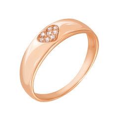 Кольцо из красного золота с фианитами 000132989 000132989 17.5 размера от Zlato