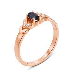 Кольцо из красного золота с сапфиром и бриллиантами 000124866 000124866 16.5 размера от Zlato