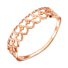 Кольцо из красного золота 000137932 000137932 17.5 размера от Zlato