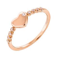 Золотое кольцо Любовь в красном цвете с фианитами 000129145 18 размера от Zlato
