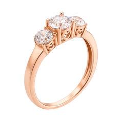 Кольцо в красном золоте с фианитами 000117721 000117721 16 размера от Zlato
