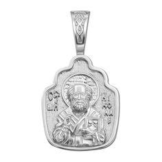 Серебряная ладанка Святой Николай 000117913 000117913 от Zlato