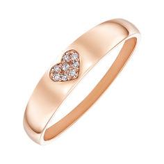 Кольцо из красного золота с фианитами 000132989 000132989 19 размера от Zlato