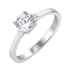 Серебряное кольцо с цирконием 000113852 000113852 16 размера от Zlato
