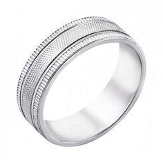 Серебряное обручальное кольцо 000043140 000043140 16.5 размера от Zlato
