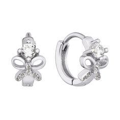 Серебряные серьги-конго с фианитами 000133155 000133155 от Zlato