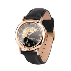 Часы наручные из красного золота с механизмом скелетон 000134575 000134575 от Zlato