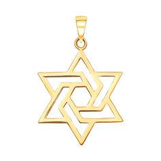 Подвеска из желтого золота Звезда Давида 000130943 000130943 от Zlato