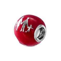 Серебряный шарм с красной эмалью 000140615 000140615 от Zlato