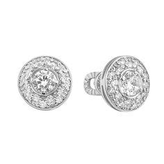 Серебряные серьги-пуссеты с  цирконием 000106912 000106912 от Zlato