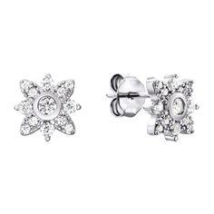 Серебряные серьги-пуссеты с цирконием 000135870 000135870 от Zlato