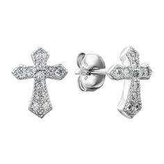 Серебряные серьги-пуссеты с фианитами 000137713 000137713 от Zlato