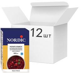 Акция на Упаковка крахмала картофельного NordiC 500 г х 12 шт (6411200200475) от Rozetka