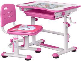 Комплект Evo-kids BD-08 PN стол + стул Белый/розовый (BD-08 PN) от Rozetka