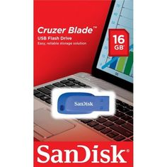 Накопитель USB 2.0 SANDISK Cruzer Blade 16GB (SDCZ50C-016G-B35BE) от MOYO