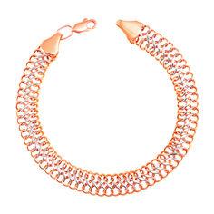 Браслет из красного и белого золота с алмазной гранью 000103641 000103641 17 размера от Zlato