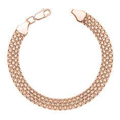 Браслет из красного золота в якорном плетении  000101592 000101592 18.5 размера от Zlato