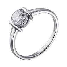 Серебряное кольцо с кристаллом циркония 000112726 000112726 16.5 размера от Zlato