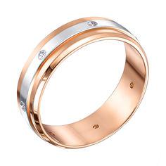 Акция на Обручальное кольцо Лаванда в комбинированном золоте с фианитами 000102259 20 размера от Zlato