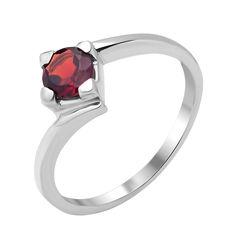 Серебряное кольцо с гранатом 000117803 000117803 18.5 размера от Zlato