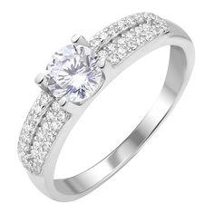 Серебряное кольцо с фианитами 000112715 000112715 16.5 размера от Zlato